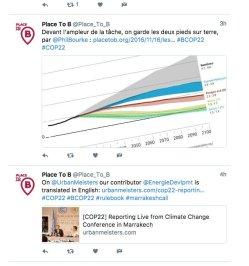 Capture d'écran des tweets